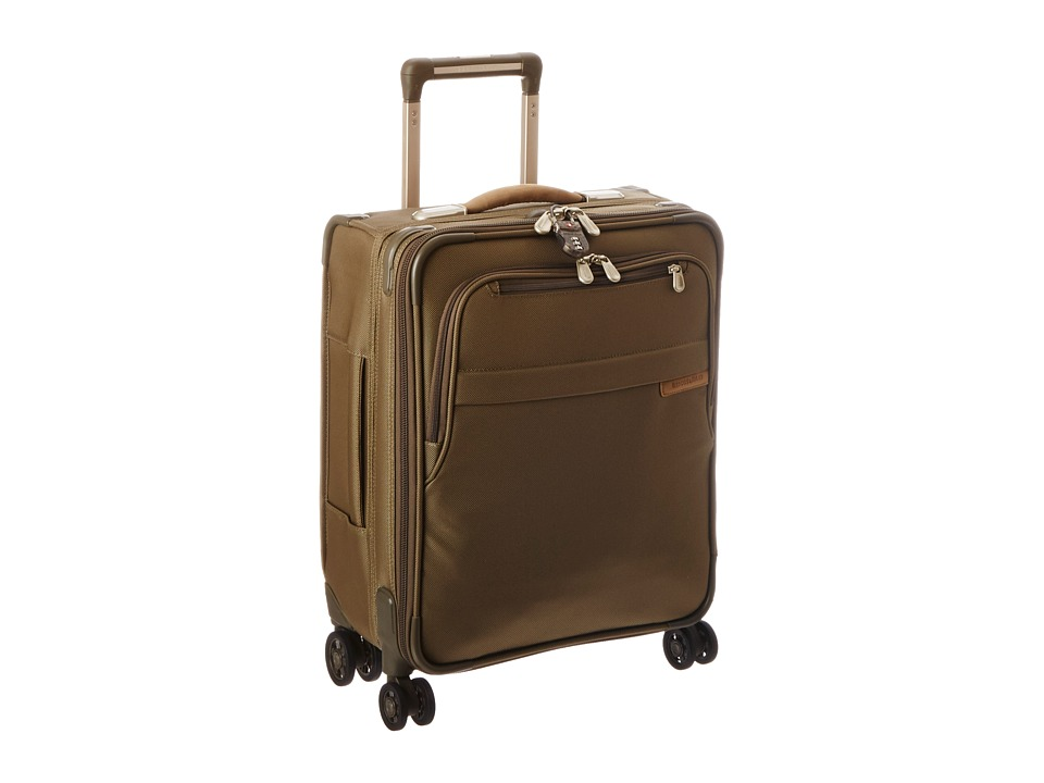 Briggs & Riley - Baseline International Carry-On Expandable Wide-Body Spinner (Olive) Carry on Luggage