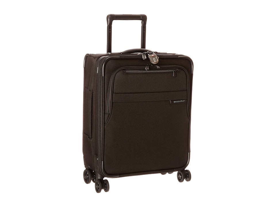 Briggs & Riley - Baseline International Carry-On Expandable Wide-Body Spinner (Black) Carry on Luggage