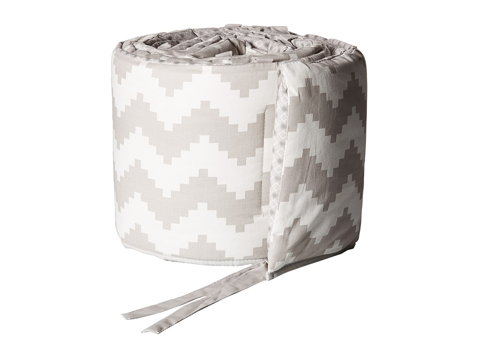 lolli LIVING - Aztec Chevron-Grey Bumper