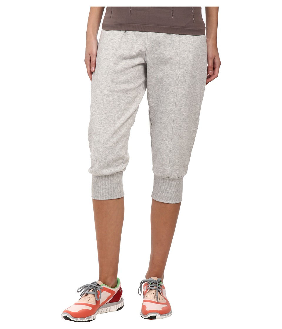 adidas by Stella McCartney Essential 3/4 Sweatpants AA7023 Pearl Grey Heather Womens Workout