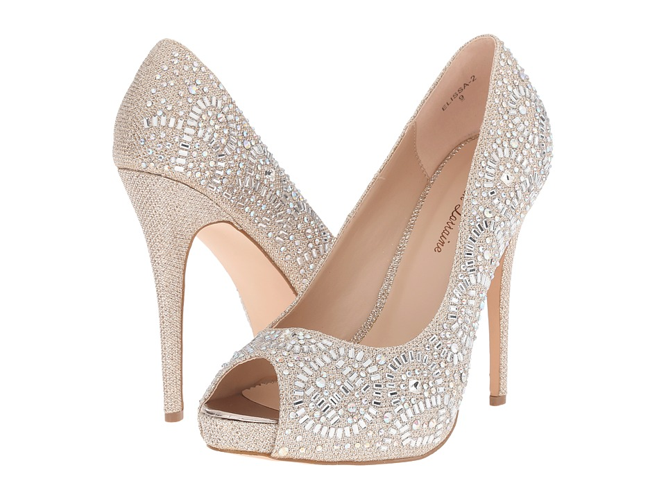 Lauren Lorraine Elissa 2 Nude Sparkle High Heels