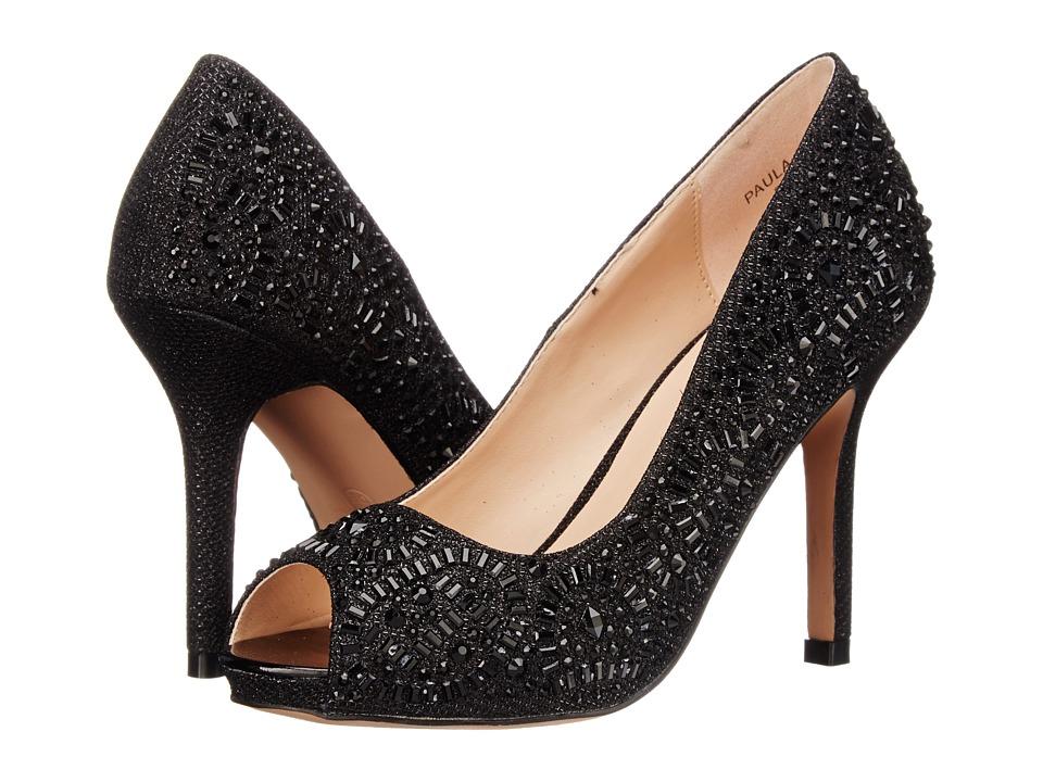 Lauren Lorraine Paula 2 Black Sparkle High Heels