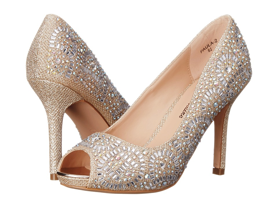 Lauren Lorraine Paula 2 Nude Sparkle High Heels