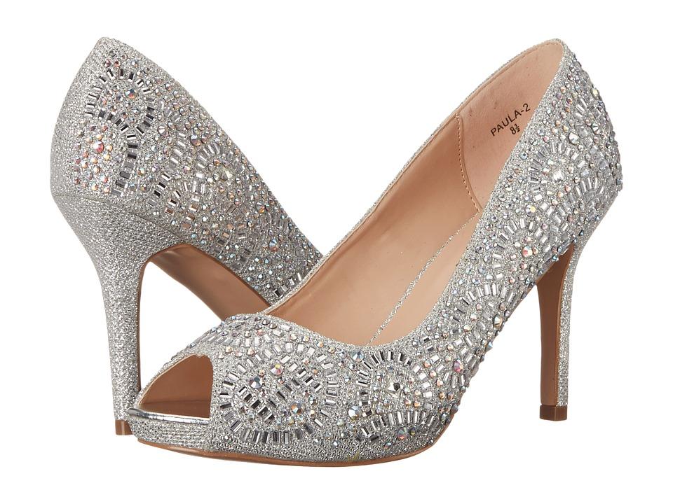Lauren Lorraine Paula 2 Silver Sparkle High Heels