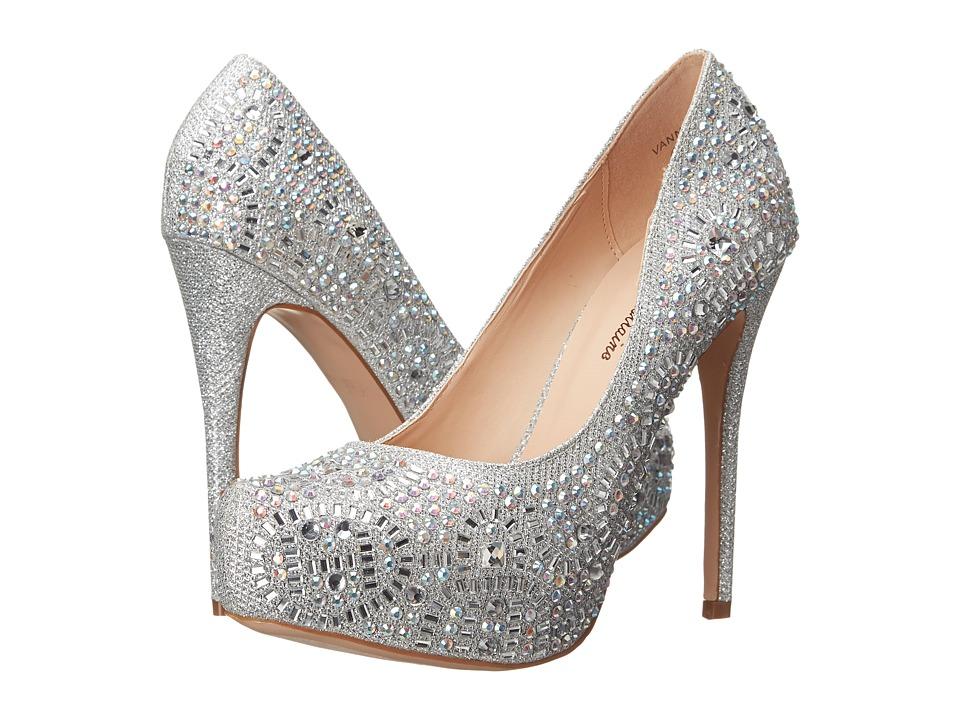 Lauren Lorraine Vanna 2 Silver Sparkle High Heels