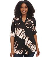 Calvin Klein Plus - Plus Size Print Crew Neck Roll Sleeve