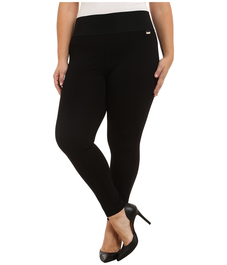 Calvin Klein Plus - Plus Size Power Stretch Leggings (Black) Womens Casual Pants