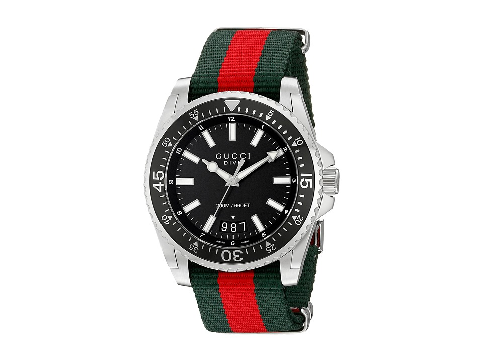 Gucci Dive 45mm Stainless Steel/Nylon Strap Watches