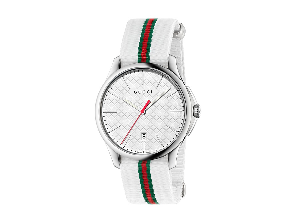 Gucci G Timeless 40mm Stainless Steel/White Nato Strap Watches