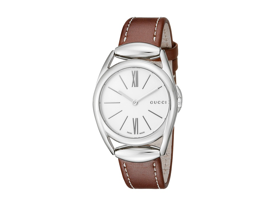 Gucci Horsebit 30mm Stainless Steel/Brown Leather Strap Watches