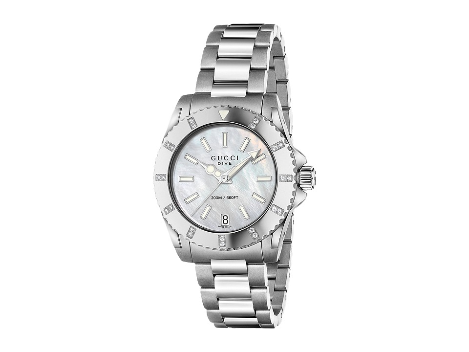 Gucci Dive 32mm 22 Diamonds Stainless Steel Watches