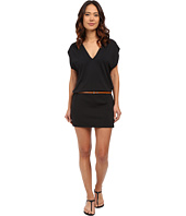 Michael Kors - Garden Solids Draped V-Neck w/ Belt Cover-Up