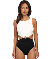 Michael Kors - Draped Solids Open Back Maillot