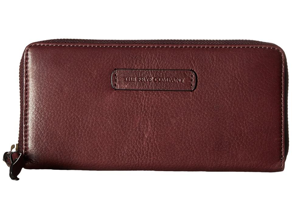 Frye - Jenny Zip Wallet 2 (Plum) Wallet Handbags