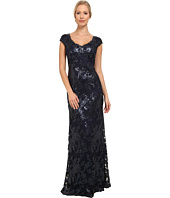 Adrianna Papell - Sequin Lace Cap Sleeve Gown
