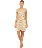 Adrianna Papell - Cap Sleeve Shimmer Cocktail Dress