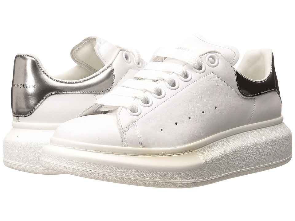 Alexander McQueen Sneaker Pelle S.Gomma White/Silver Womens Lace up casual Shoes
