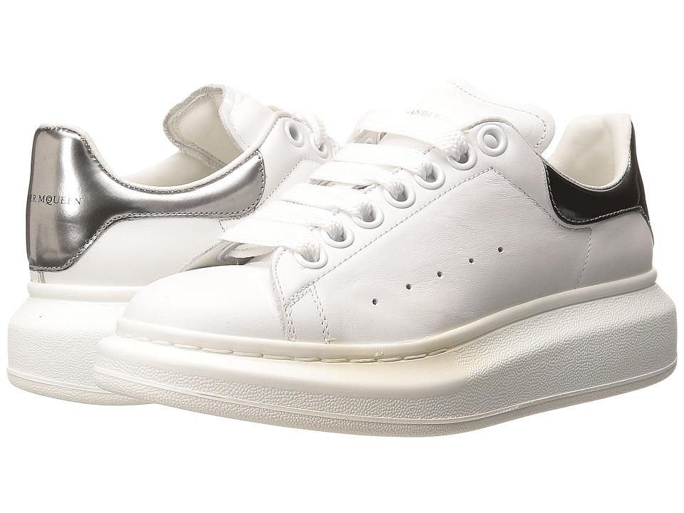 Alexander McQueen Oversized Sneaker (White/Silver) Women