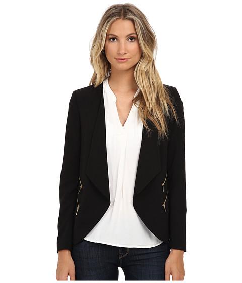 Calvin Klein Open Jacket w/ 4 Zips - Black