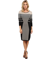 Calvin Klein - Long Sleeve Mixed Stripe Sweater Dress