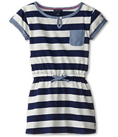 Tommy Hilfiger Kids  Yarn Dyed Jersey Stripe T-Shirt Dress (Little Kids)