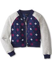 Tommy Hilfiger Kids - Rayon Challis Baseball Jacket (Little Kids)