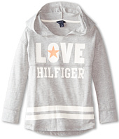 Tommy Hilfiger Kids - Long Sleeve Hooded Love Top (Little Kids)