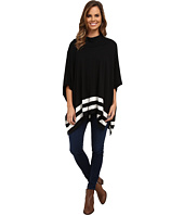 Calvin Klein - Cowl Cape w/ Stripes