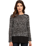 Calvin Klein - Marled Sweater Knit w/ Shirting