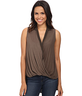 B Collection by Bobeau - Cross Front Sleeveless Blouse