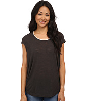 Bobeau - Cap Sleeve T-Shirt w/ Trim