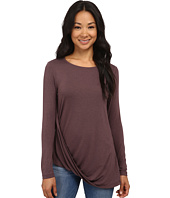 Bobeau - Long Sleeve Twist Front T-Shirt