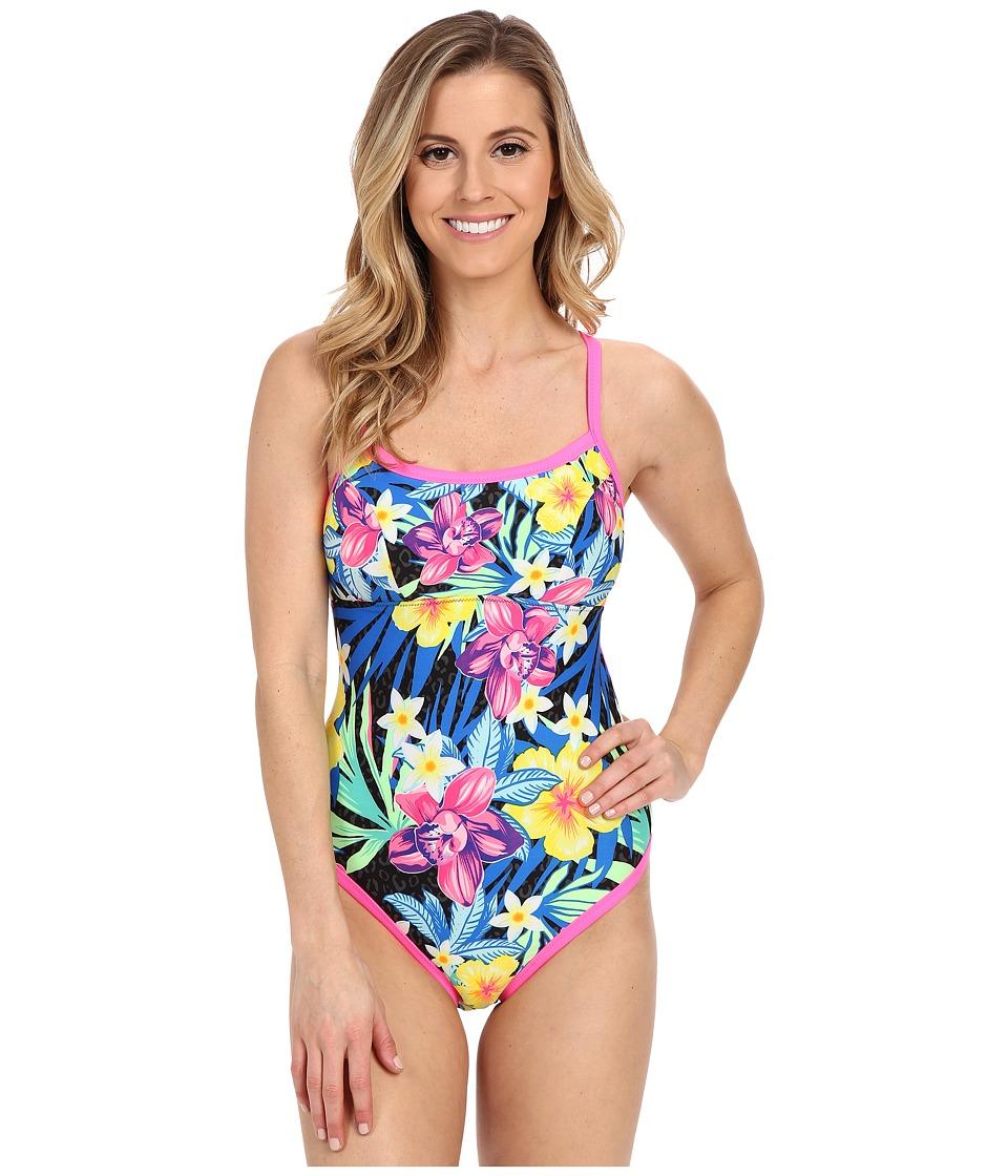 TYR Amazonia Reversible Diamondfit Black Multi Womens Swimsuits One Piece