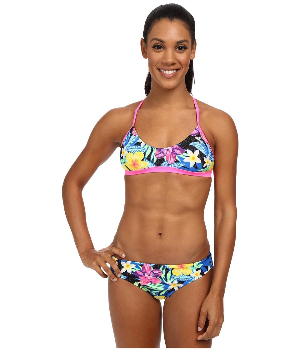 TYR Amazonia Crosscutfit Tie Back Black/Multi Womens Swimwear Sets