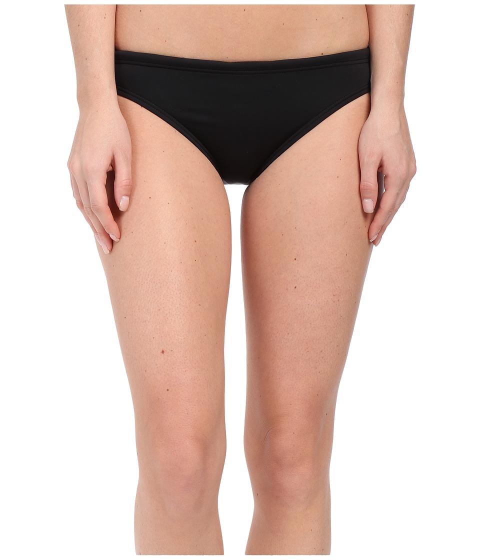 TYR Solid Brites Bikini Bottom (Black) Women