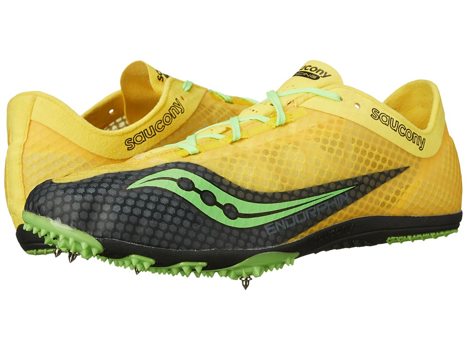 Saucony - Endorphin (Yellow/Black/Slime) Mens Running Shoes