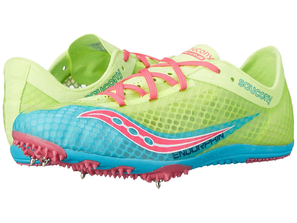 Saucony - Endorphin (Blue/Citron/Pink) Women