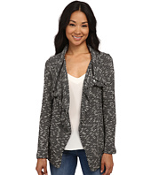 Bobeau - Textured Zip Lapel Jacket