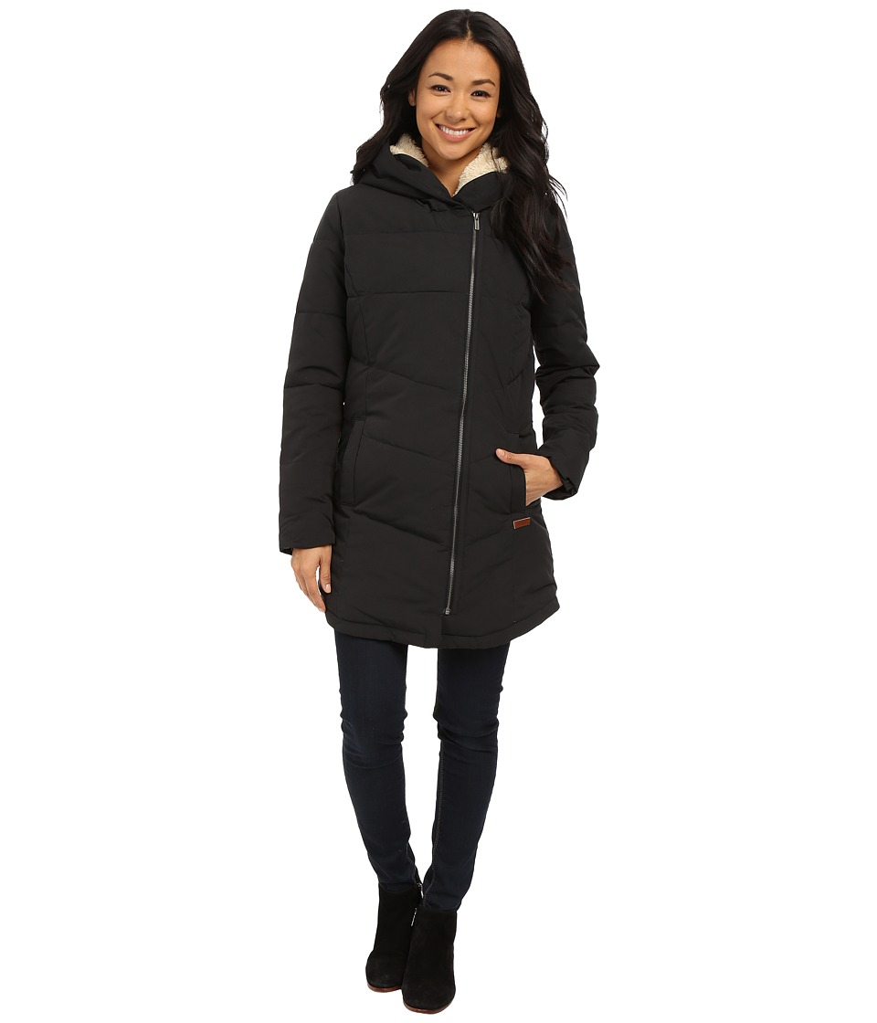 Roxy Night Out Hooded Coat True Black Womens Coat
