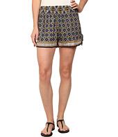 Angie - Print Elastic Waist Shorts