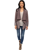 Bobeau - Two-Pocket Fleece Cardigan