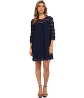 Brigitte Bailey - 3/4 Sleeve Lace Illusions Shift Dress