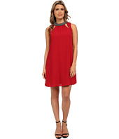 Brigitte Bailey - Shift Dress with Mock Neck and Cut Out Front Key Holes
