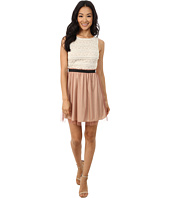 Gabriella Rocha - Sleeveless Dress with Paperbag Mesh Skirt