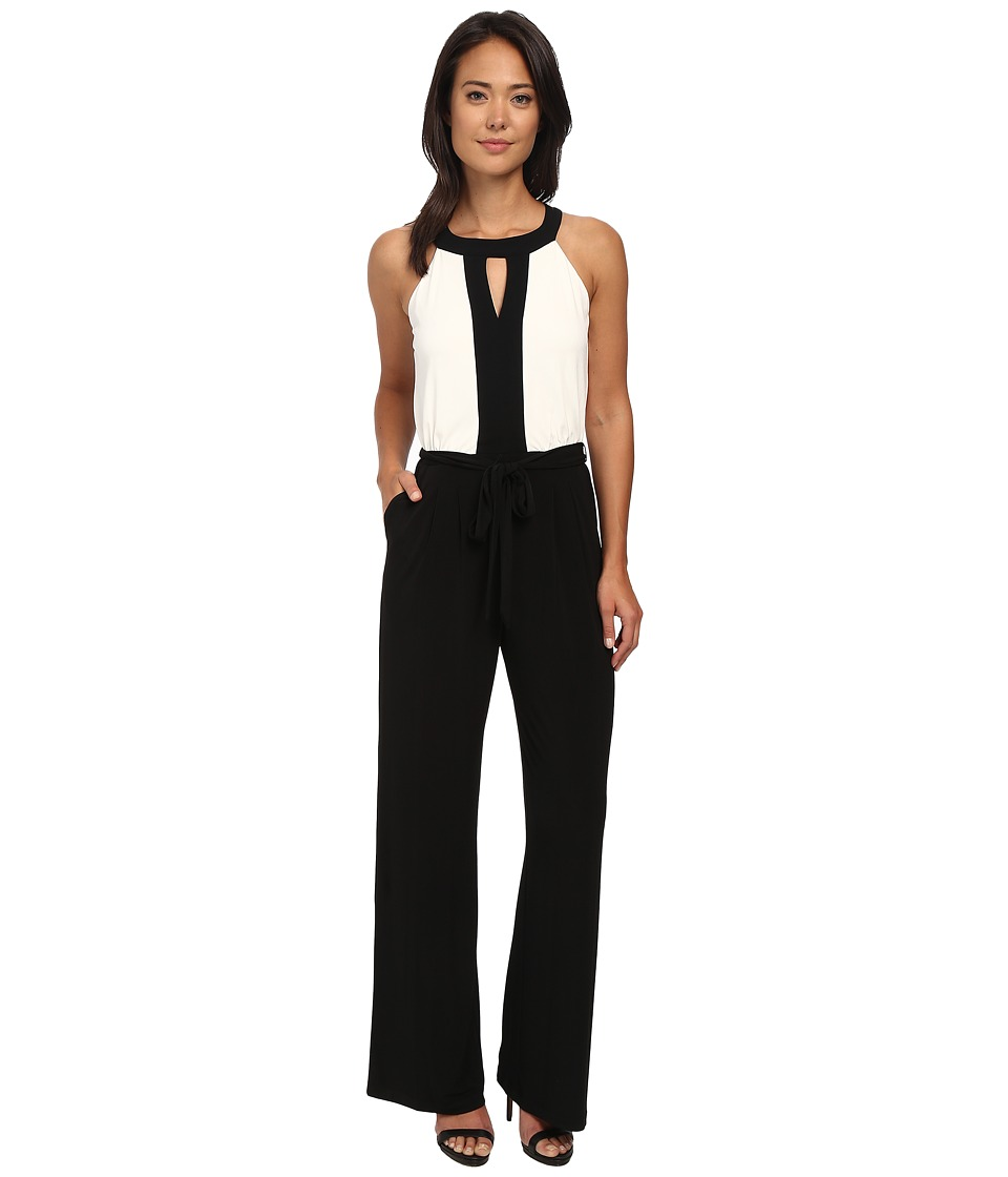 Vince Camuto - Framed Two-Tone Jumpsuit in Ity (Black/Ivory) Women's Jumpsuit & Rompers One Piece