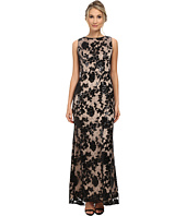 Vince Camuto - Beaded and Sequin Gown in Floral Pattern with Nude Lining