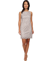 Vince Camuto - Sleeveless Metallic Lace Shift Dress