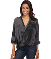 Bobeau - Cross Front Tab Sleeve Blouse
