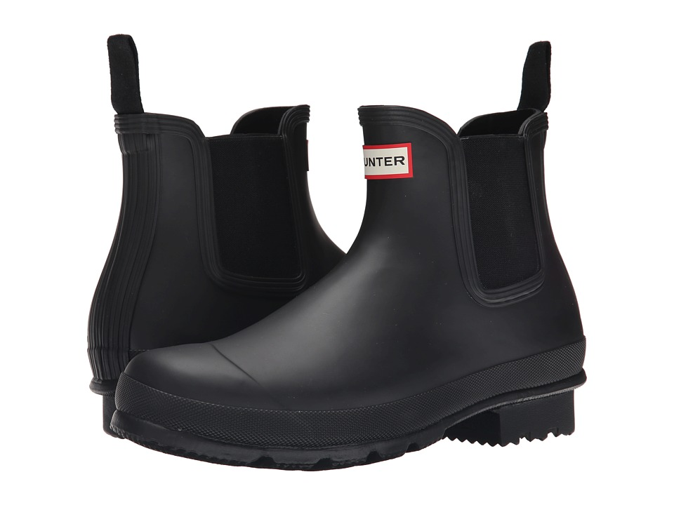 Hunter - Original Dark Sole Chelsea Boots (Black) Mens Rain Boots