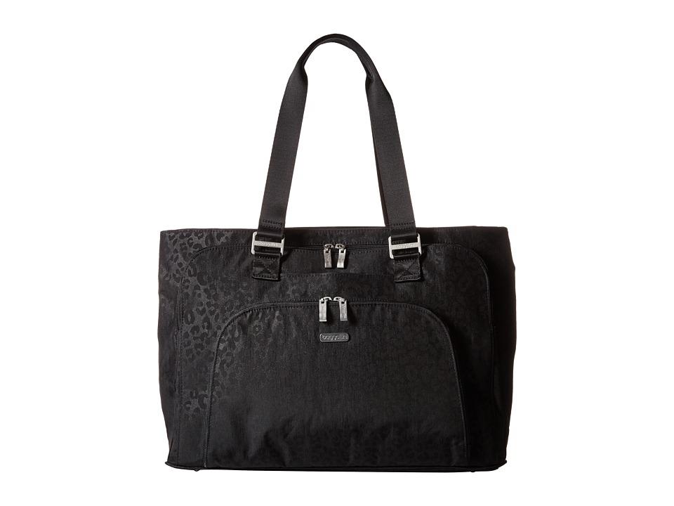 Baggallini - Errand Tote (Black/Cheetah) Tote Handbags